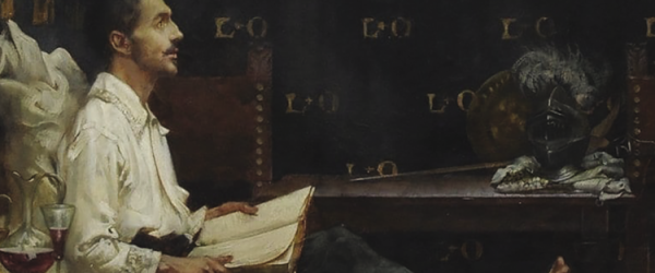 "Albert Chevallier-Tayler (1904) ""San Ignacio recuperándose en Loyola"". (2011, Jesuit Institute, Londres)."