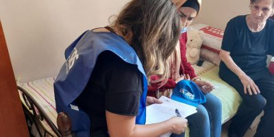 JRS staff making home visits in Beirut, Lebanon